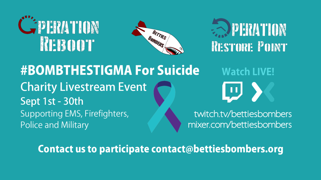 #BOMBTHESTIGMA Suicide Prevention Fundraiser